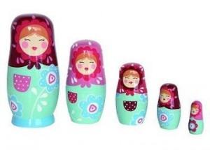 poupees russes bleues